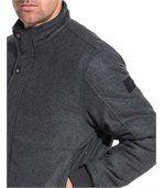 Blouson zippé homme gris laine preview2