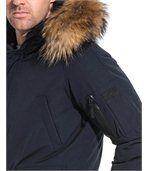 Blouson homme navy avec capuche belle fourrure preview2