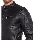 Blouson zippé chic noir effet cuir preview2