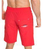 Short de bain rouge sport plage preview3