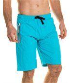Short de bain turquoise uni zip preview1