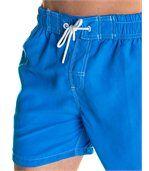 Short de bain bleu roi coutures contrastées preview2