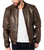Bomber en cuir homme ORLANDO marron preview1