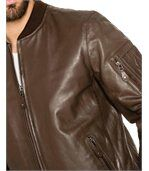 Bomber en cuir homme ORLANDO marron preview2