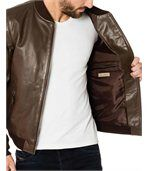 Bomber en cuir homme ORLANDO marron preview3