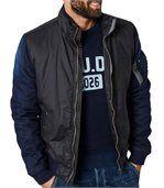 Bomber noir homme bi matière JAC122 de marque preview1