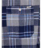 Chemise homme HARRY bleu  à carreaux vintage preview3