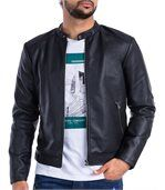 Blouson homme CARTER simili cuir double col preview1