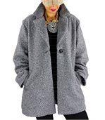 Manteau femme bouclette SAPHIR gris