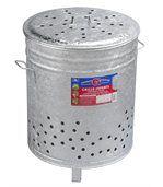 Incinérateur grille herbes galvanise 110 litres preview1