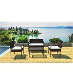 Salon de jardin canapé, fauteuils et table preview1