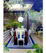 Tapis intérieur extérieur Athens bleu marine et crème 180 x 120 cm preview3
