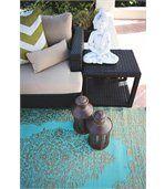 Tapis intérieur extérieur Istanbul aqua et bronze 180 x 120 cm preview3