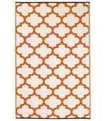 Tapis intérieur extérieur Tangier orange et blanc 180 x 120 cm preview1