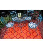 Tapis intérieur extérieur Tangier orange et rouge preview2