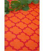 Tapis intérieur extérieur Tangier orange et rouge preview4