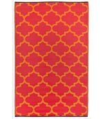 Tapis intérieur extérieur Tangier orange et rouge preview1