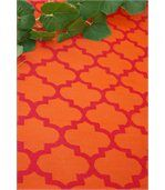 Tapis intérieur extérieur Tangier orange et rouge 180 x 120 cm preview3