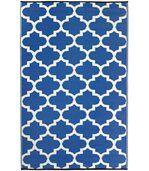Tapis intérieur extérieur Tangier bleu et blanc preview1
