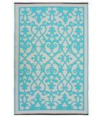 Tapis intérieur extérieur Venice crème et turquoise 180 x 120 cm preview1
