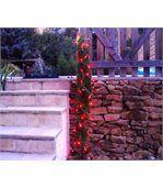 Guirlande solaire 60 leds rouges à clignotements 7m preview1