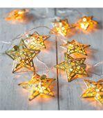 Guirlande lumineuse 10 étoiles dorées preview2