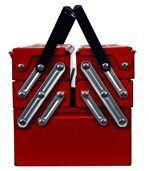 Boite à outils dépliante avec poingnées de transport 5 compartiments preview4