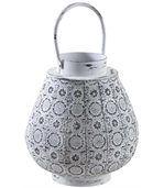 Lanterne en métal mosaique blanc vieilli preview1
