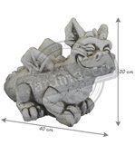 Statuette Petit dragon en pierre reconstituée preview2