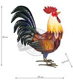 Coq décoratif en métal 34 cm preview2