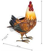 Poule décorative en métal 33 cm preview2
