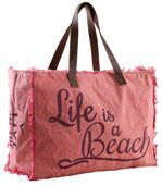 Sac en coton décor Life is a beach preview1