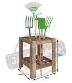 Range-outils de jardin en bois preview2