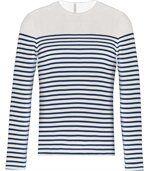 Marinière manches longues Striped White / Navy preview1
