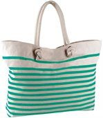 Sac de plage marin Natural / Water Green preview1