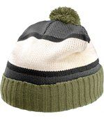 Bonnet pompon Kelly Green / Light Grey / Natural / Yellow preview1