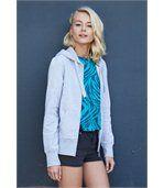 Sweat-shirt zippé capuche femme Light Royal Blue preview1