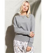 Sweat-shirt BIO col rond manches raglan femme Grey Heather preview3