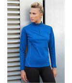Sweat running 1/4 zip femme Sporty Royal Blue preview1