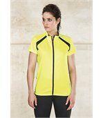 Maillot cycliste femme manches courtes White / Orange BLANC_FR preview1