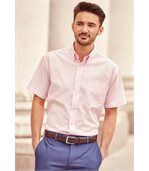 CHEMISE HOMME MANCHES COURTES OXFORD Classic Pink preview3