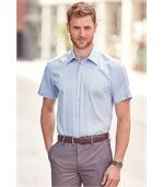 CHEMISE HOMME MANCHES COURTES NON IRON - MODERNE Bright Sky preview2