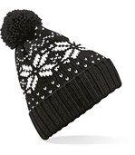 Bonnet vintage pompon Black / White preview2