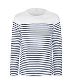 Marinière manches longues Striped White / Navy preview3
