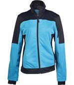 VESTE SOFTSHELL BICOLORE FEMME Aqua Blue / Black preview2