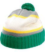 Bonnet pompon Kelly Green / Light Grey / Natural / Yellow preview2