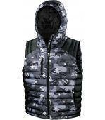 Bodywarmer Doudoune Camo Camo Charcoal / Black