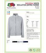 VESTE FEMME MOLLETON ZIPPÉE CLASSIC (62-116-0) White preview3