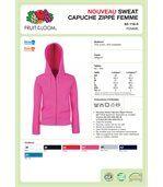 SWEAT-SHIRT FEMME ZIPPÉ CAPUCHE PREMIUM (62-118-0) Heather Grey preview4