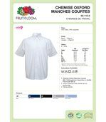 CHEMISE HOMME MANCHES COURTES OXFORD (65-112-0) White preview4